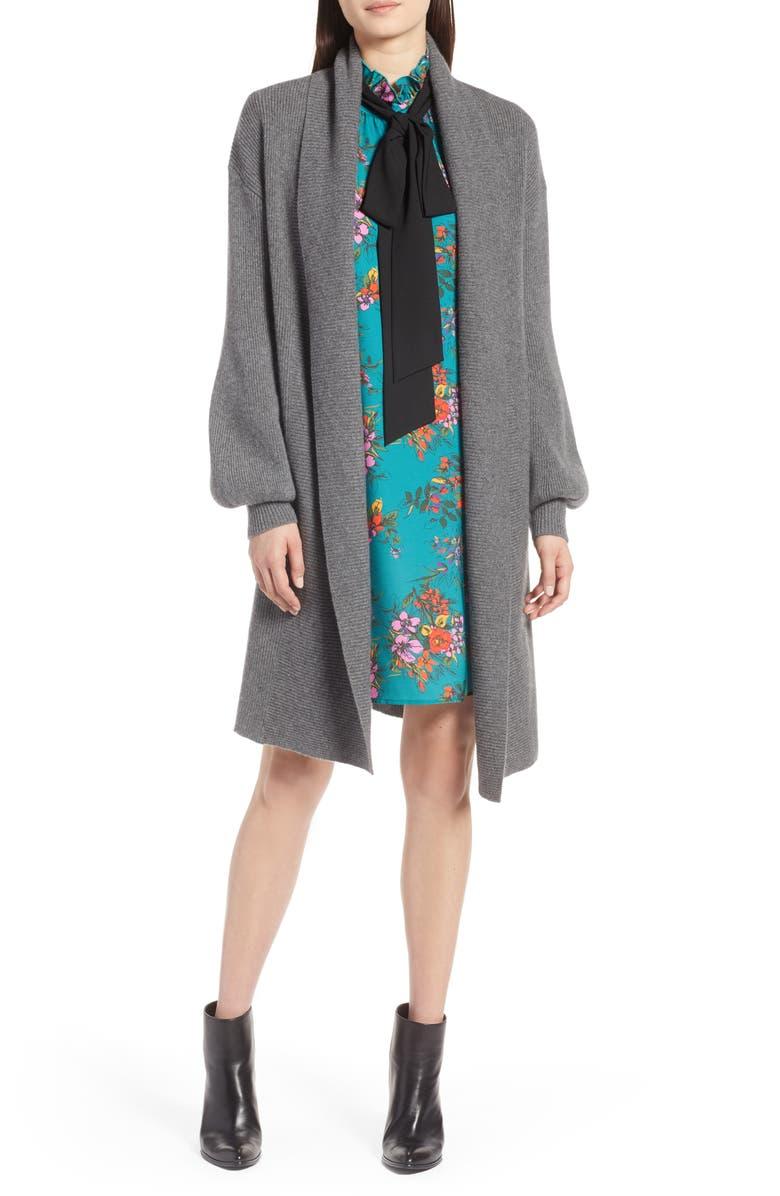 HALOGEN<SUP>®</SUP> Blouson Sleeve Long Cashmere Cardigan, Main, color, 032