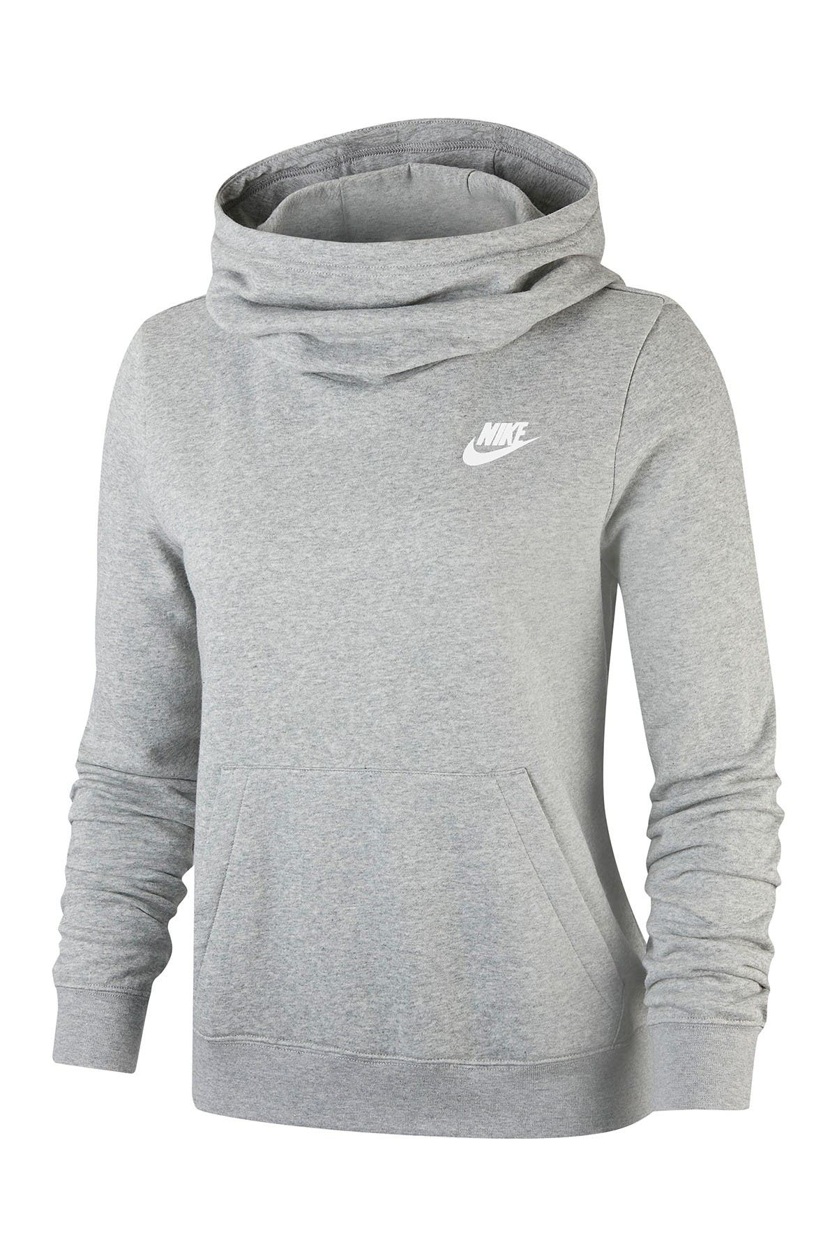 Image of Nike Funnel Neck Fleece Lined Varsity Hooded Pullover