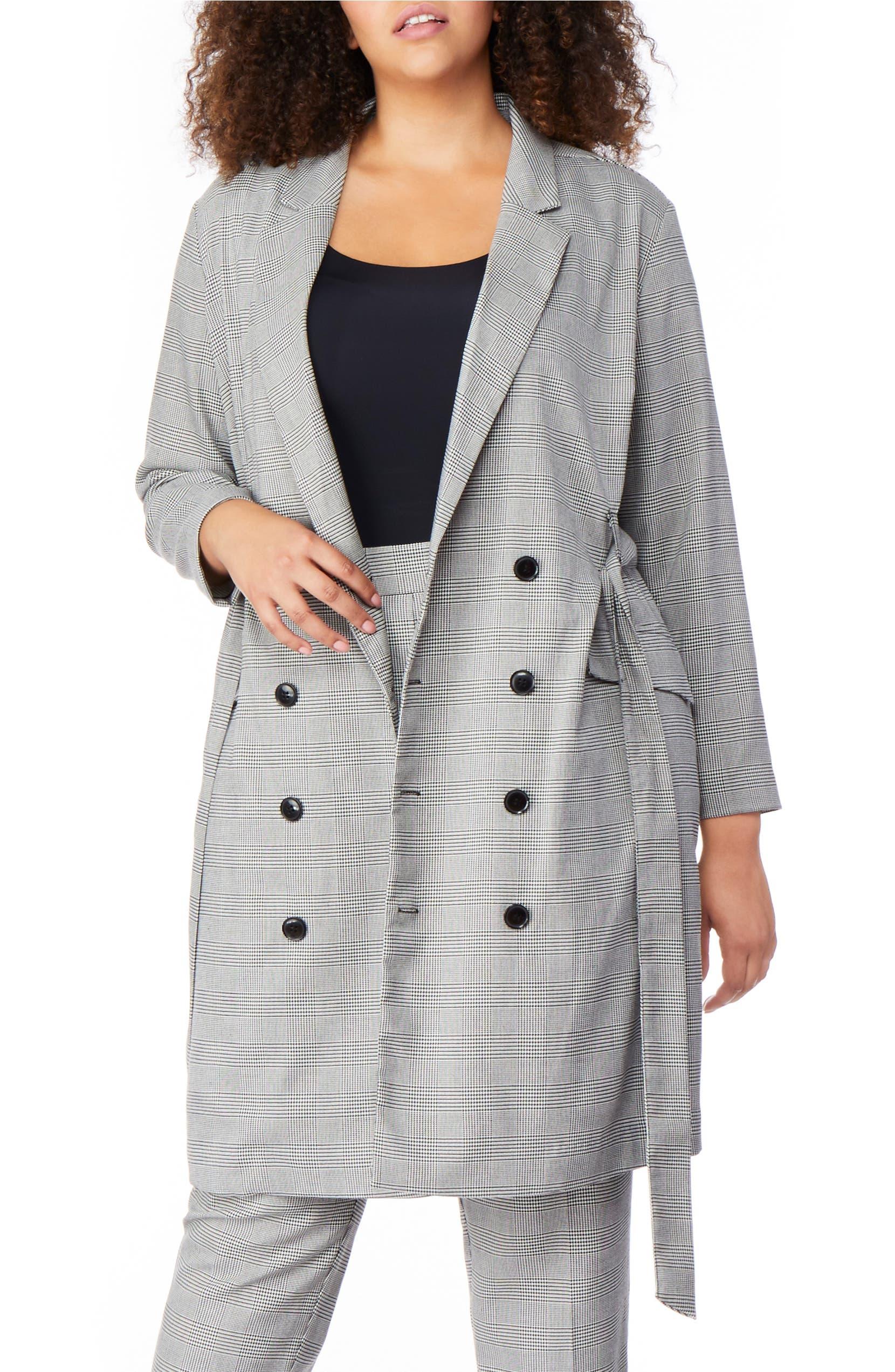 Plaid Belted Blazer Dress