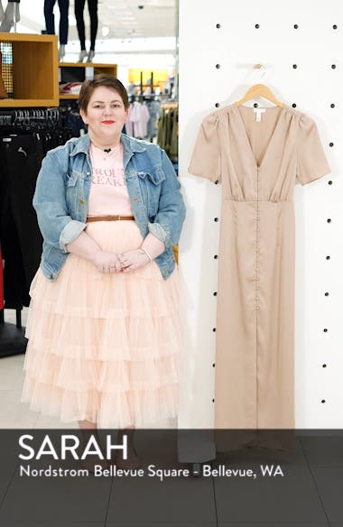 Front Button Maxi Dress, sales video thumbnail