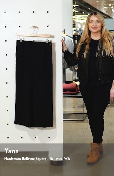 Button Detail Crop Wide Leg Crepe Trousers, sales video thumbnail