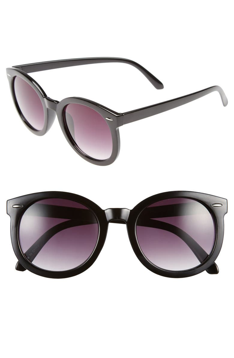 BP. 'Abbey Road' 52mm Round Sunglasses, Main, color, 001