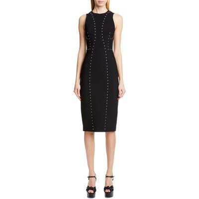 Michael Kors Studded Sheath Dress, Black