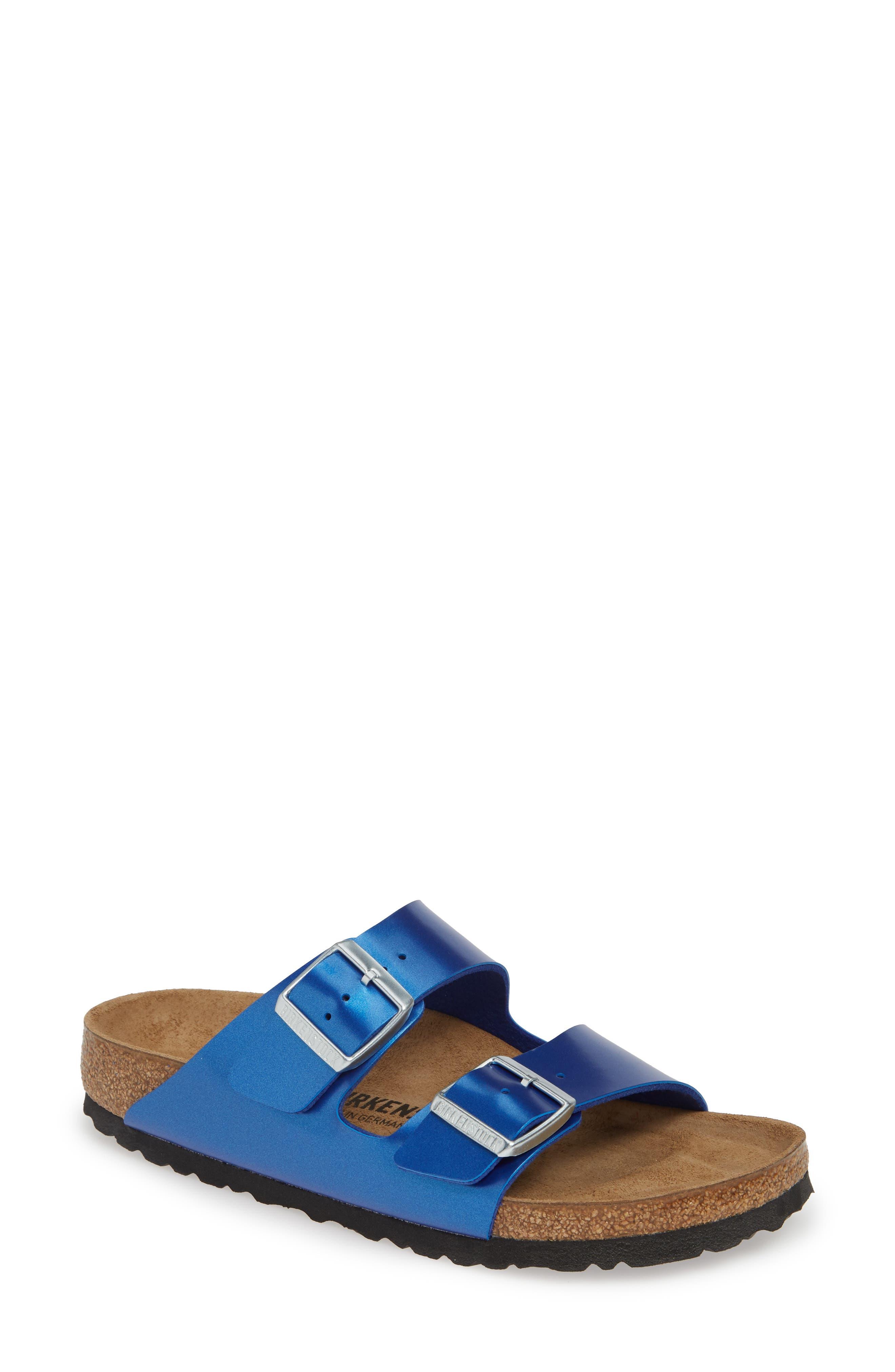 Birkenstock Arizona Electric Slide Sandal, Blue