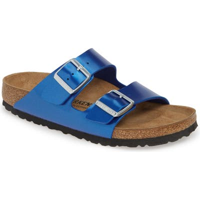 Birkenstock Arizona Electric Slide Sandal, Blue