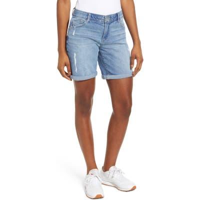 Wit & Wisdom Ab-Solution Denim Bermuda Shorts, Blue (Nordstrom Exclusive)
