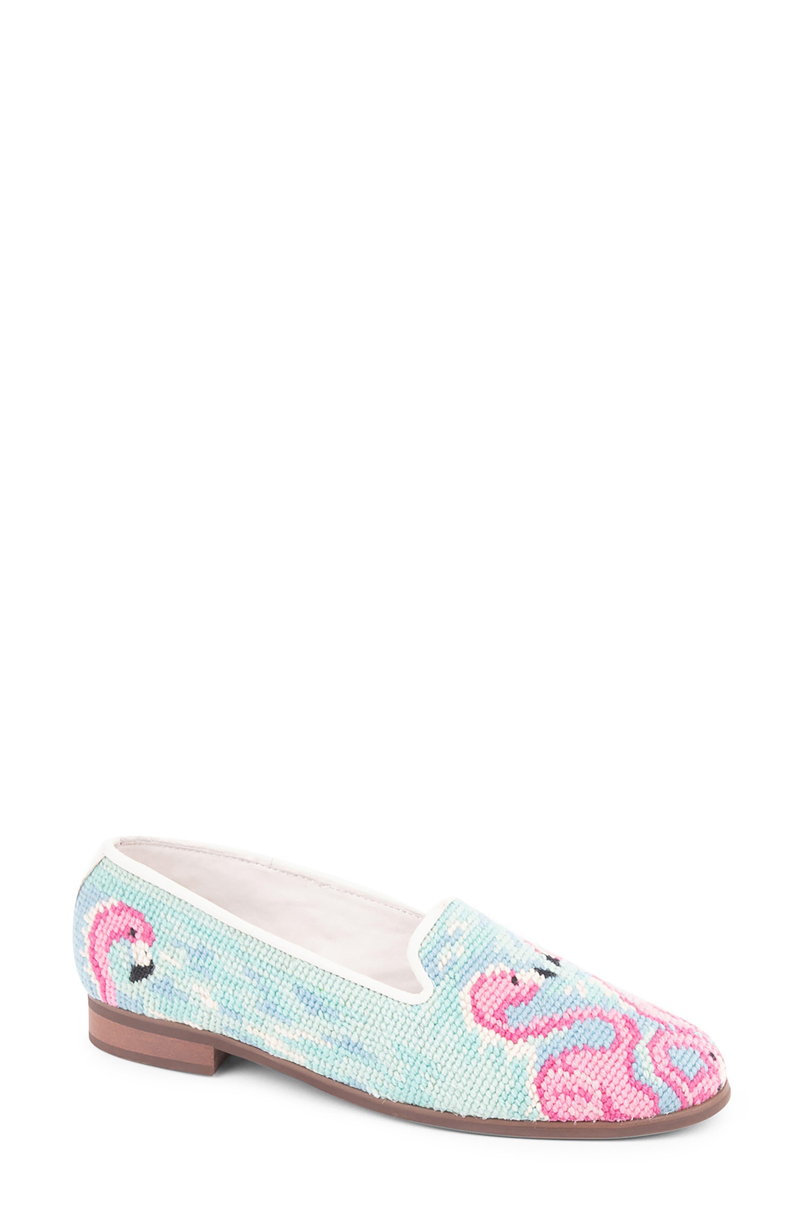 Needlepoint Flamingo Flat
