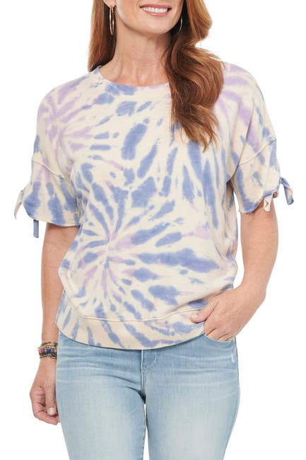 Image of Democracy Short Sleeve Scoop Neck Tie Dye T-Shirt
