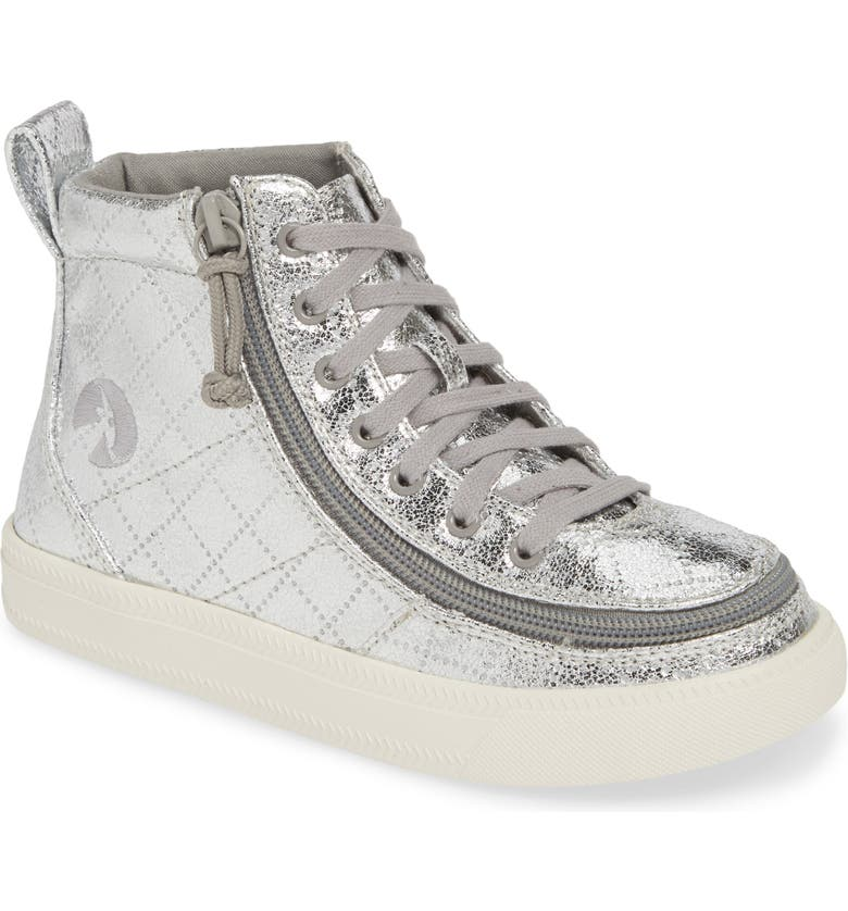 BILLY FOOTWEAR Classic High Top Sneaker, Main, color, SILVER METALLIC
