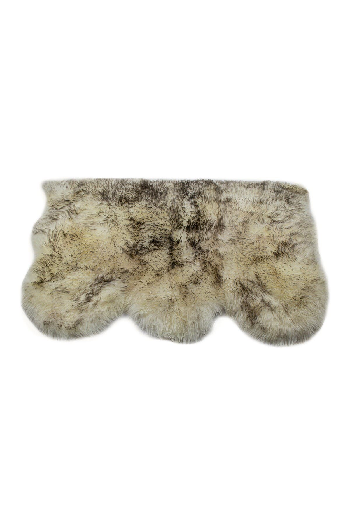 Image of Natural New Zealand Triple Sheepskin Throw - 3ft X 5ft - Gradient Chocolate