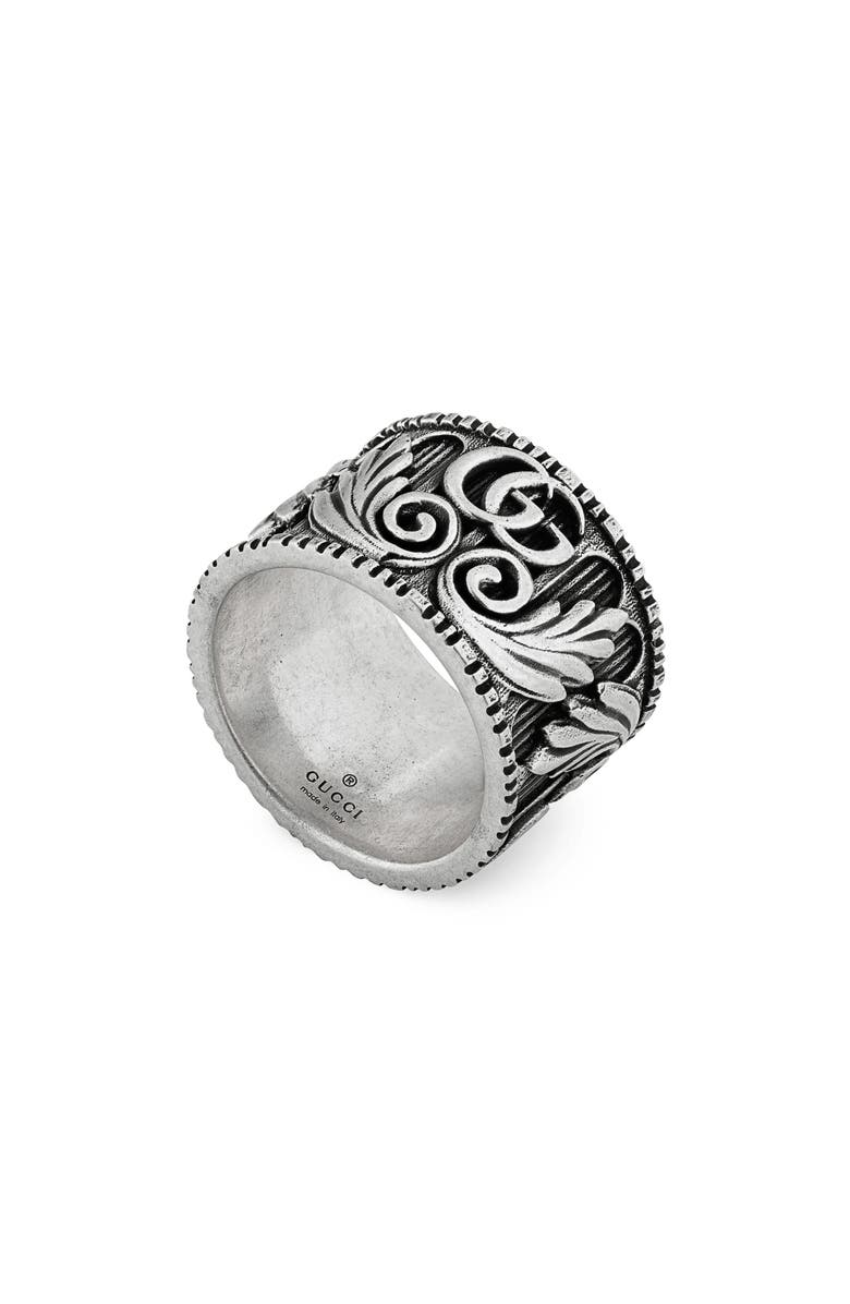 GUCCI GG Marmont Ring, Main, color, STERLING SILVER