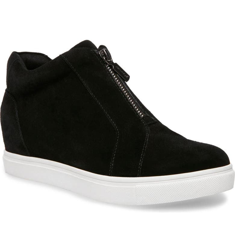 BLONDO Glenda Waterproof Sneaker Bootie, Main, color, BLACK SUEDE
