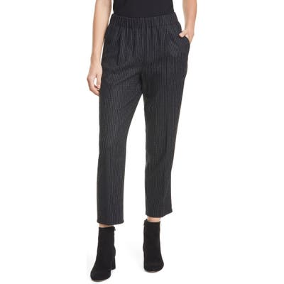 Eileen Fisher Cropped Pull-On Pants, Black
