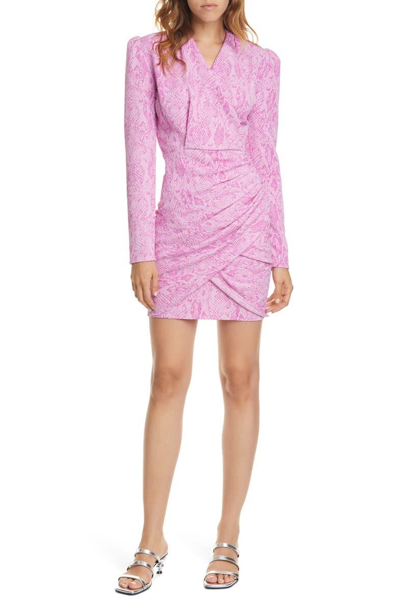STINE GOYA Will Snake Print Long Sleeve Dress, Main, color, 1457 SNAKESKIN