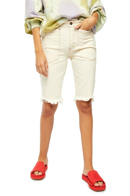 Image of Free People Rebel Rouser Cut-Off Long Shorts