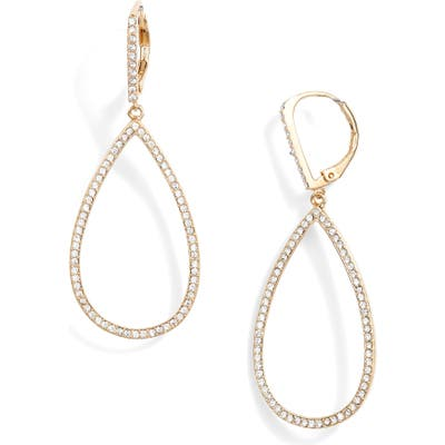 Nordstrom Pave Teardrop Hoop Earrings