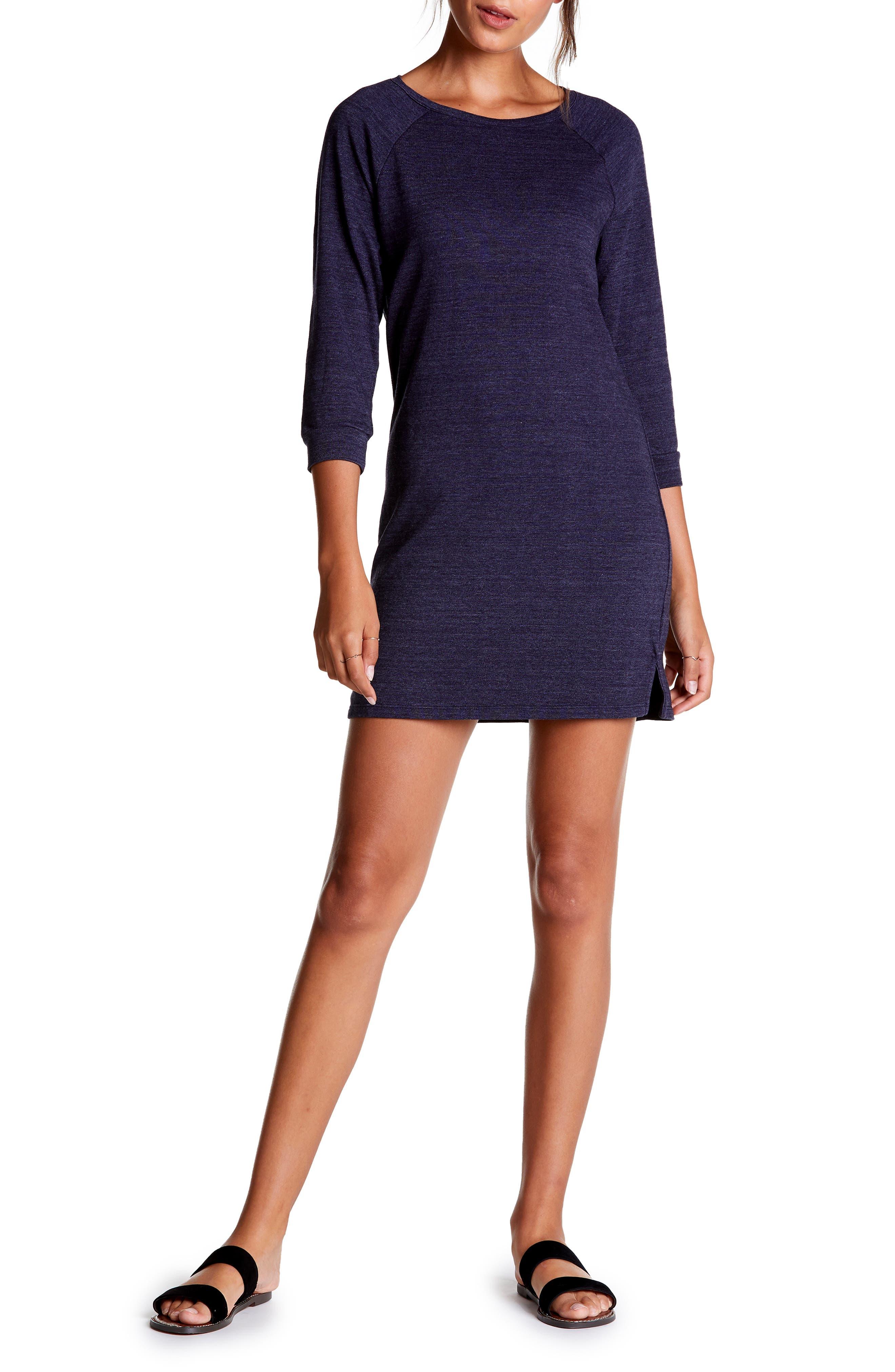 Michael Stars Sweatshirt Dress, Blue