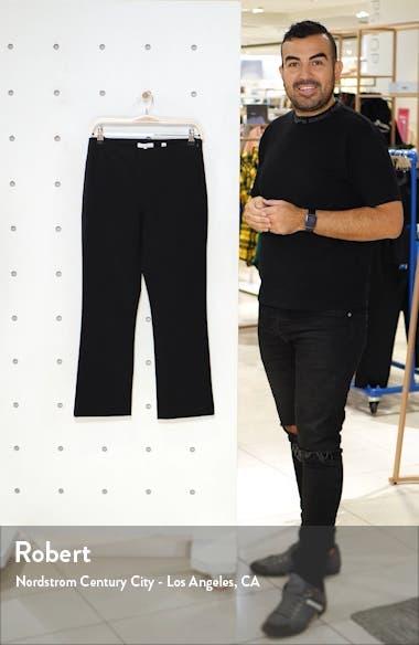Stretch Cotton Blend Flare Crop Pants, sales video thumbnail