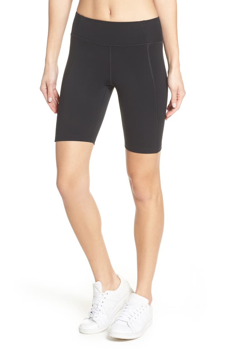 GIRLFRIEND COLLECTIVE High Waist Bike Shorts, Main, color, BLACK