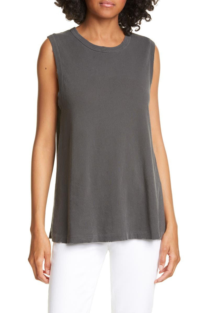 THE GREAT. 'The Sleeveless' Crewneck Tank, Main, color, 002
