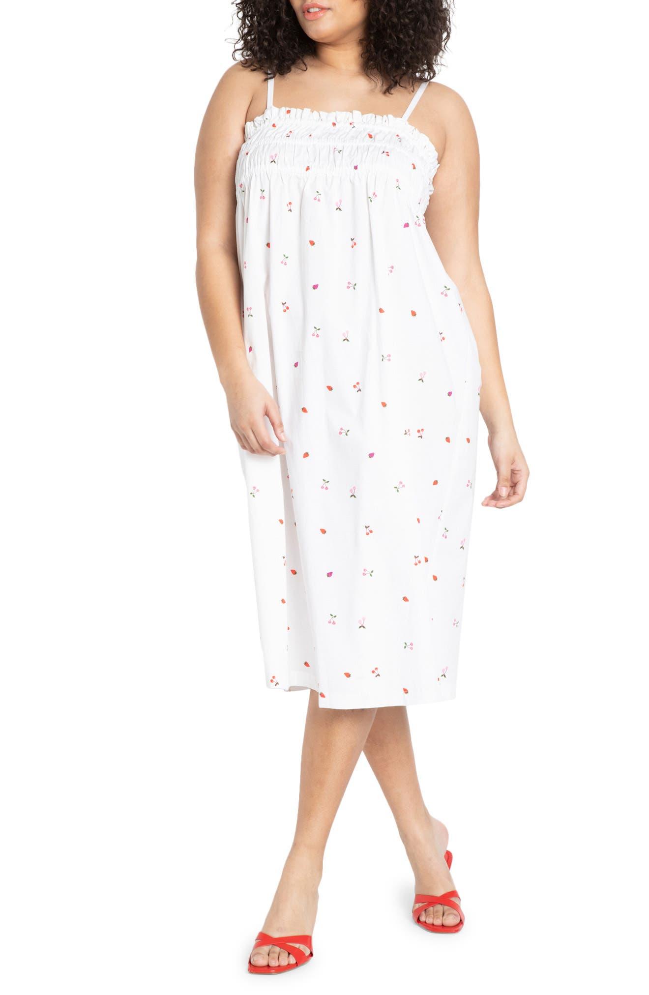 Smocked Sleeveless Midi Dress