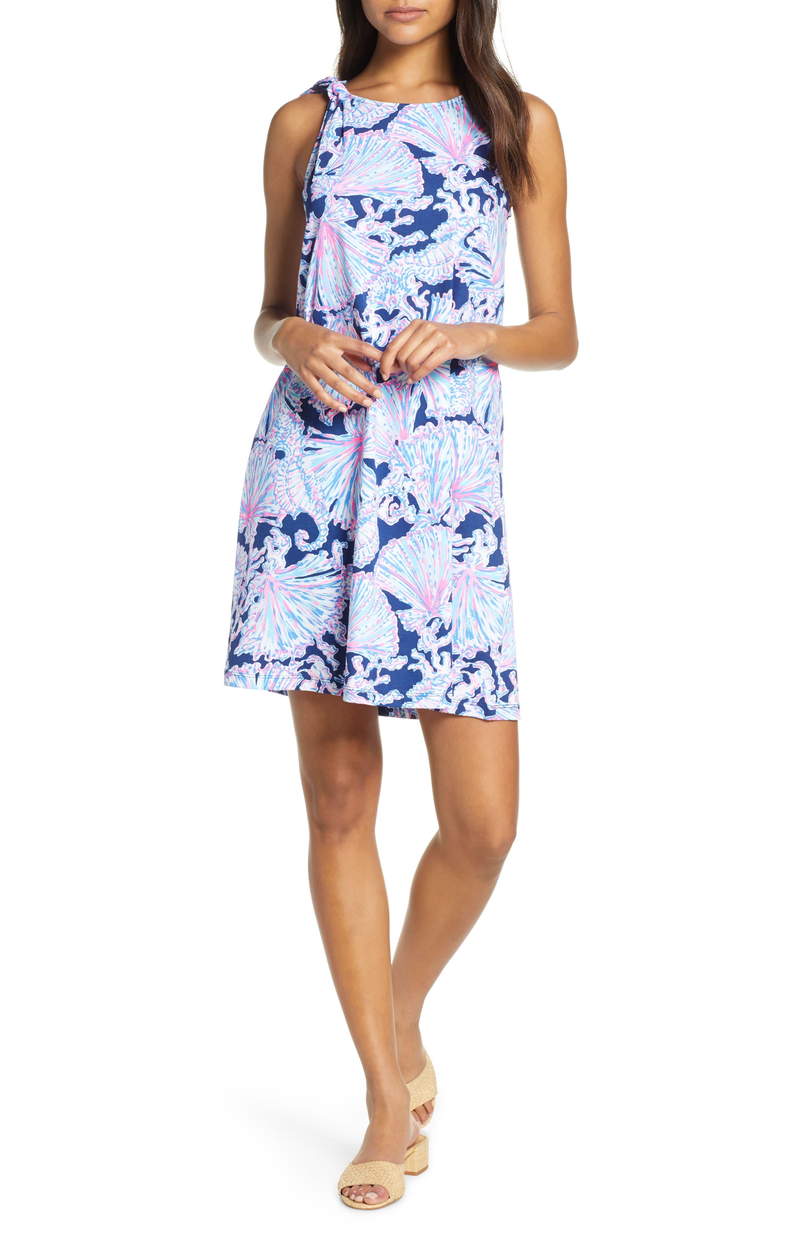 Lilly Pulitzer Luella Sleeveless Shift Dress, Blue