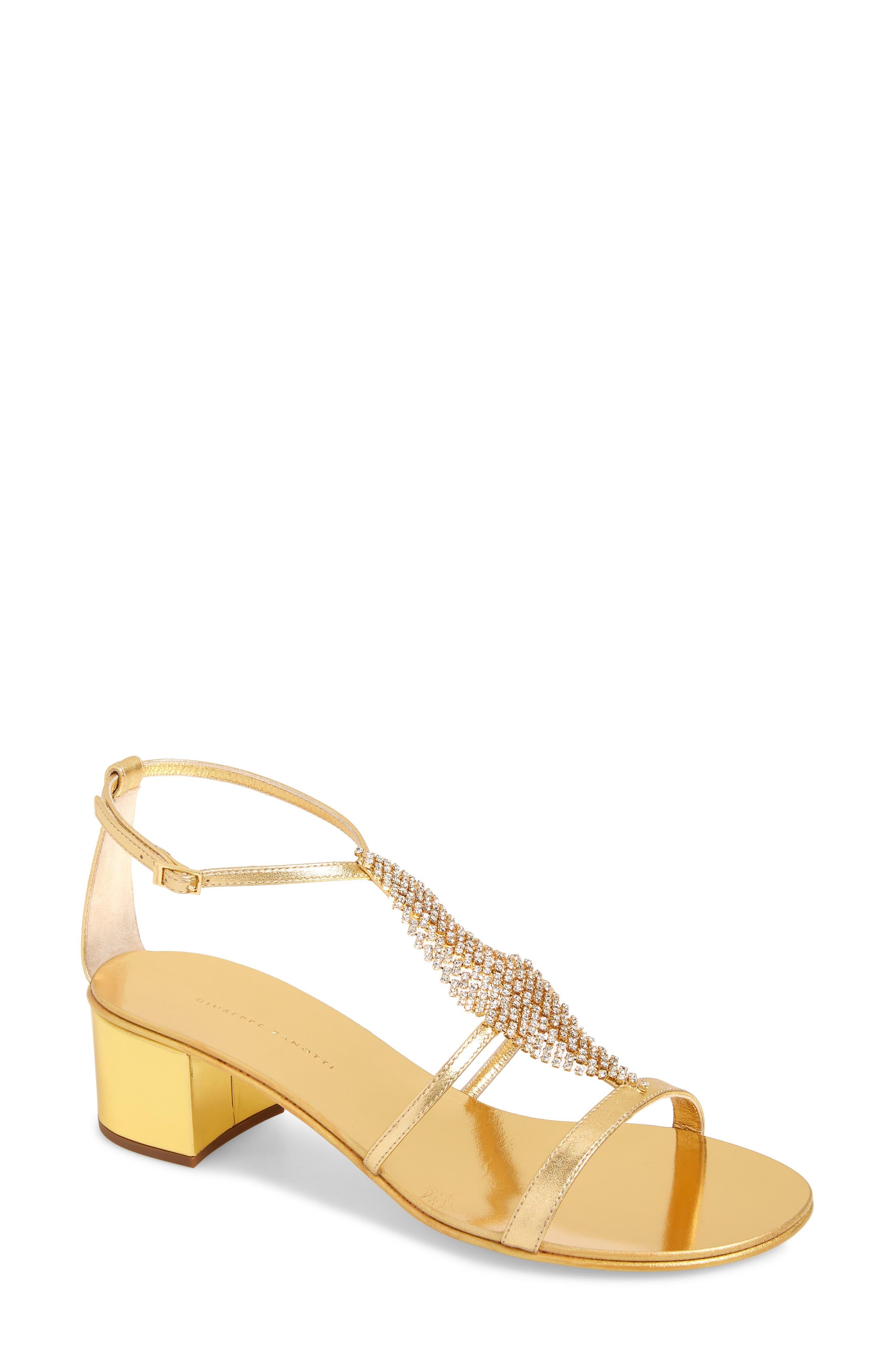 Crystal Embellished Metallic Sandal, Main, color, GOLD