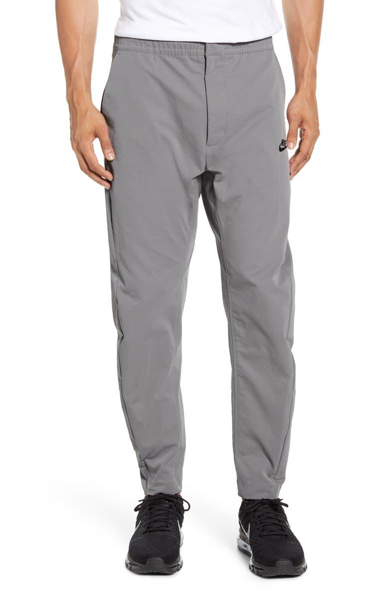 NIKE Sportswear Woven Pants, Main, color, DARK STEEL GREY/ BLACK