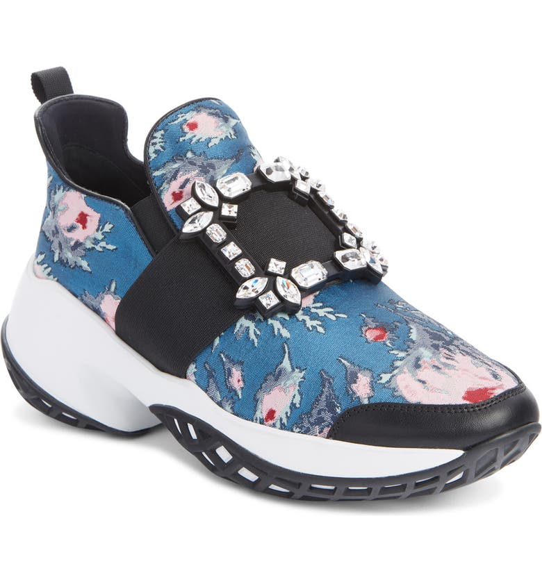 ROGER VIVIER Viv Run Slip-On Sneaker, Main, color, BLUE MULTI