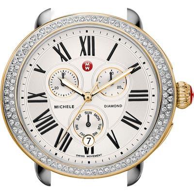 Michele Serein Diamond Two-Tone Watch Case, 40Mm X