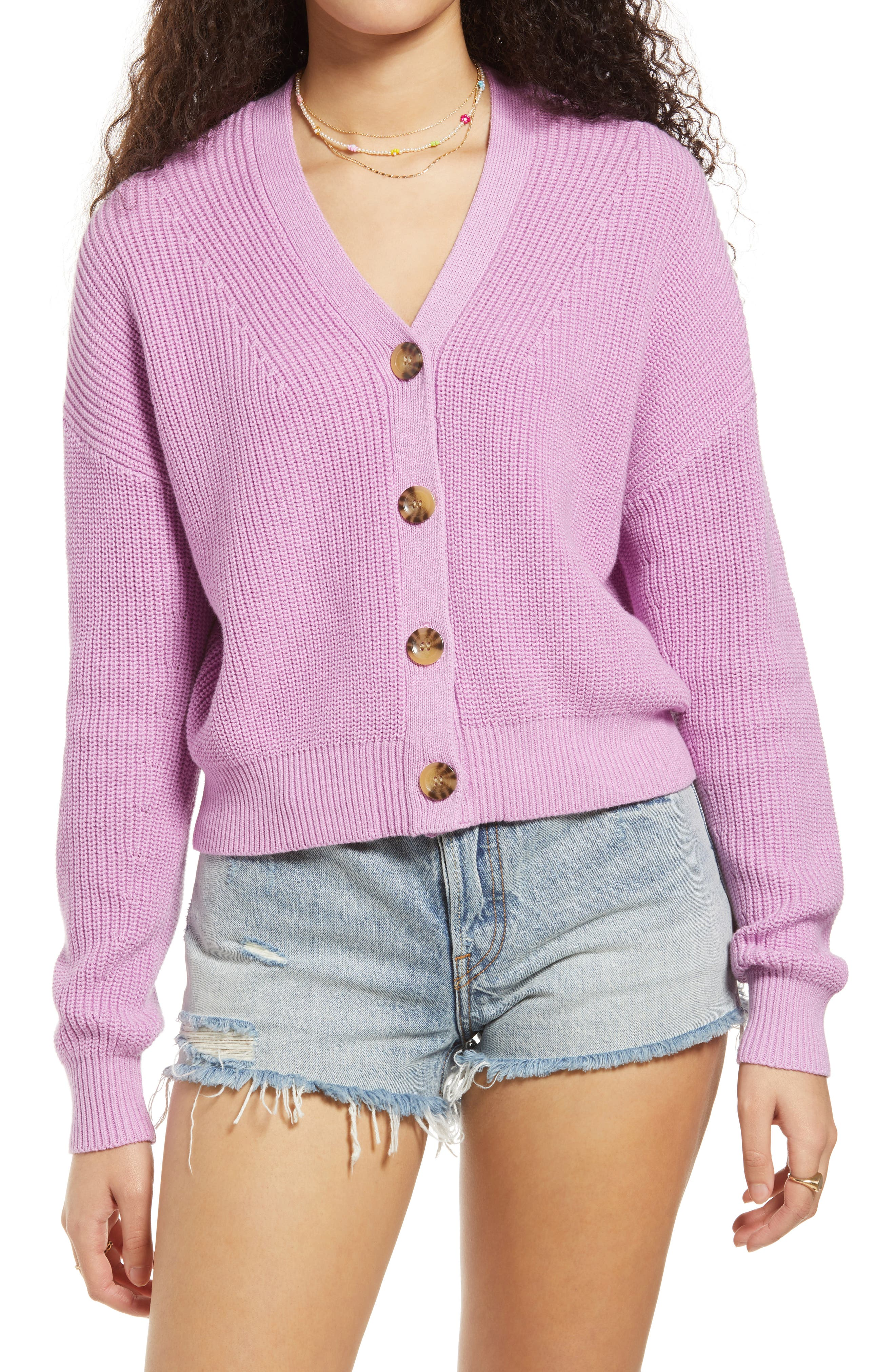 80/'s Pink Stripe Sweater by NORDSTROM BRASS PLUM in Size L