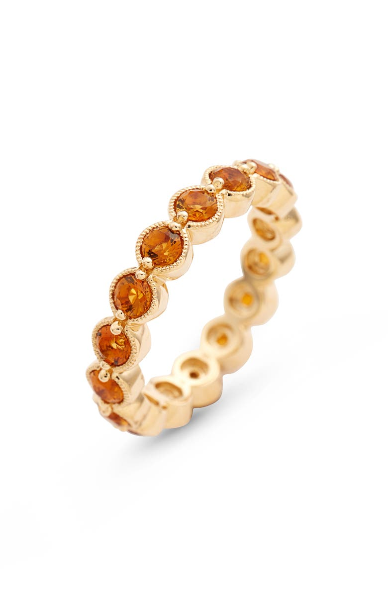 BONY LEVY Citrine Bezel Set Eternity Ring, Main, color, YELLOW GOLD/ CITRINE