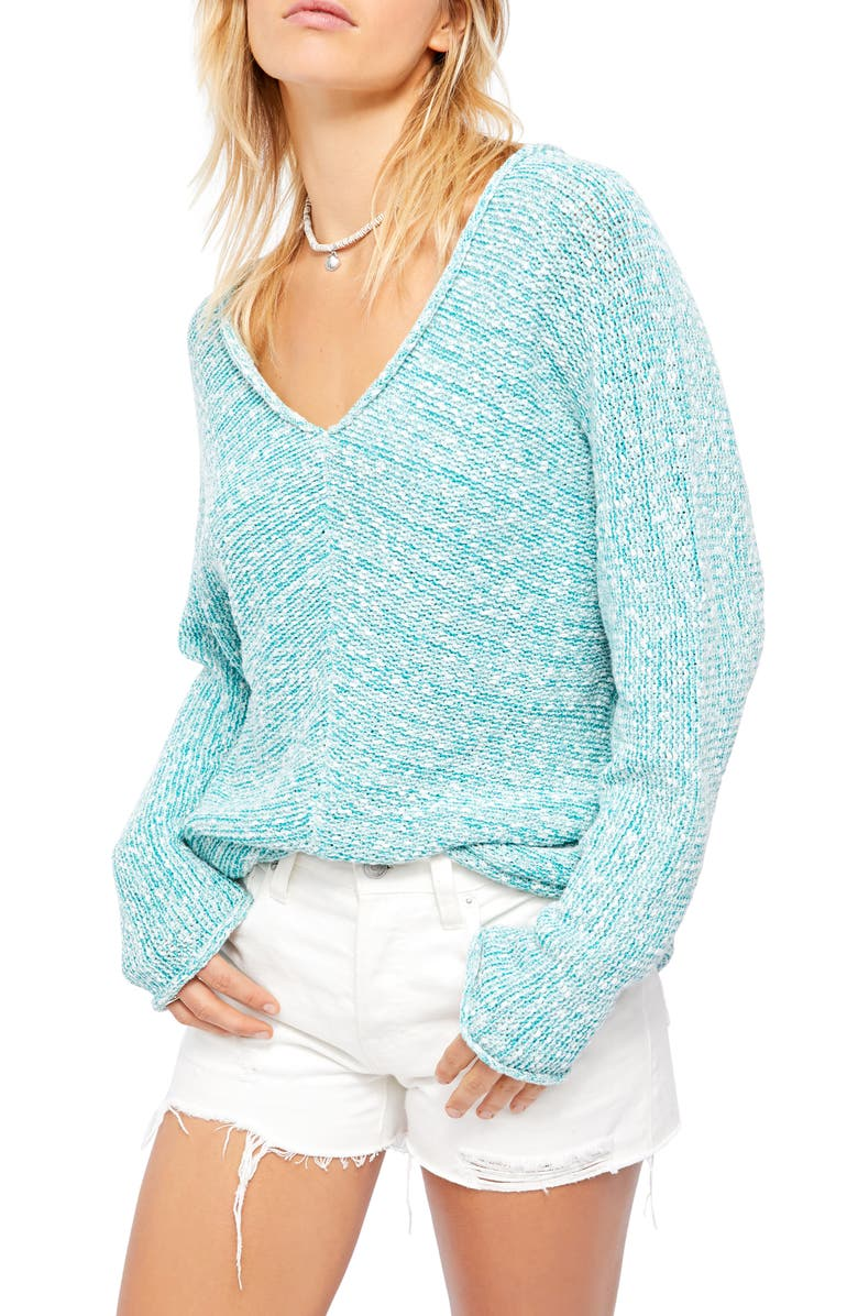 FREE PEOPLE Bright Lights Sweater, Main, color, BLUE