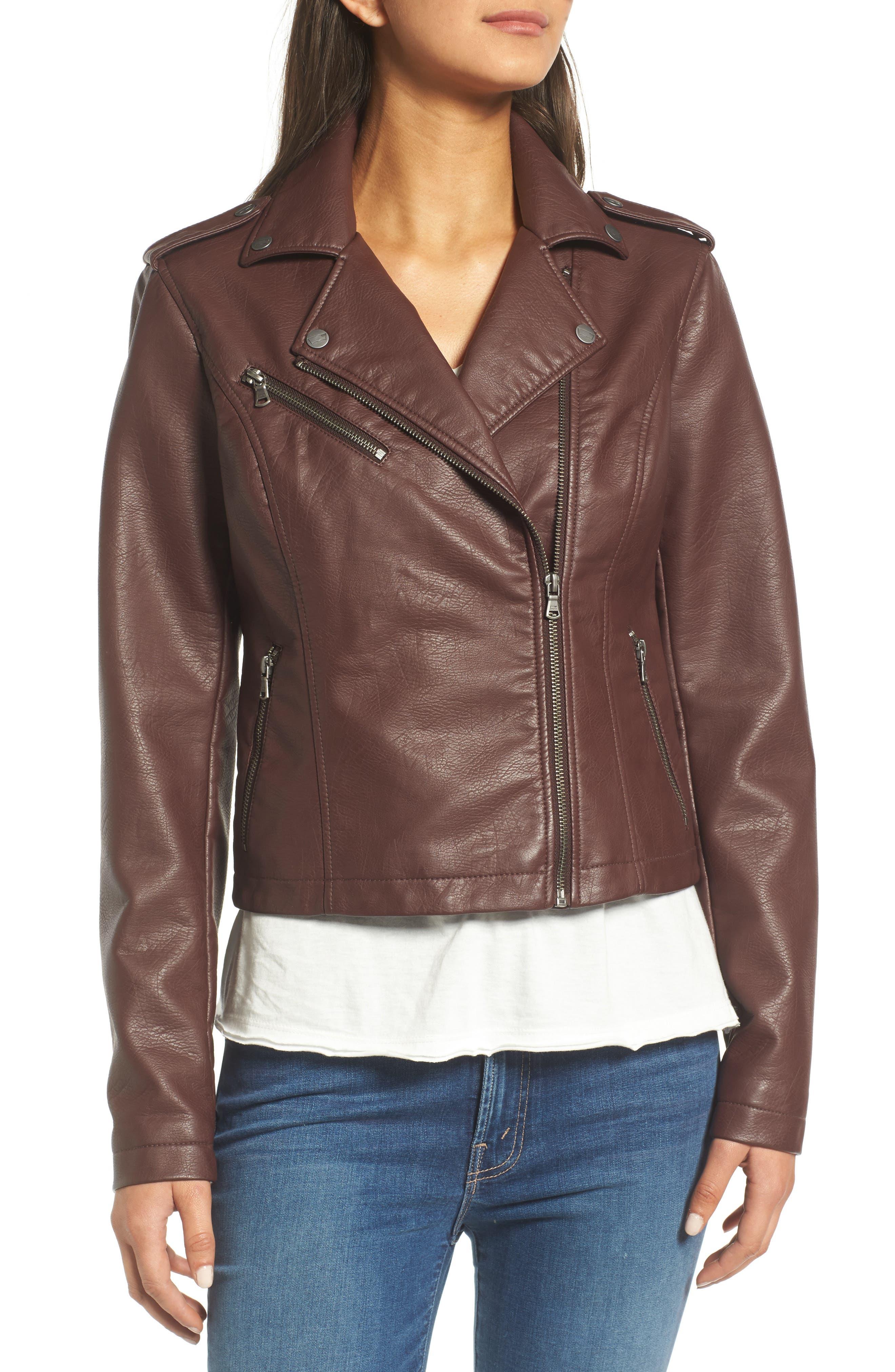 ,                             Faux Leather Moto Jacket,                             Alternate thumbnail 35, color,                             935