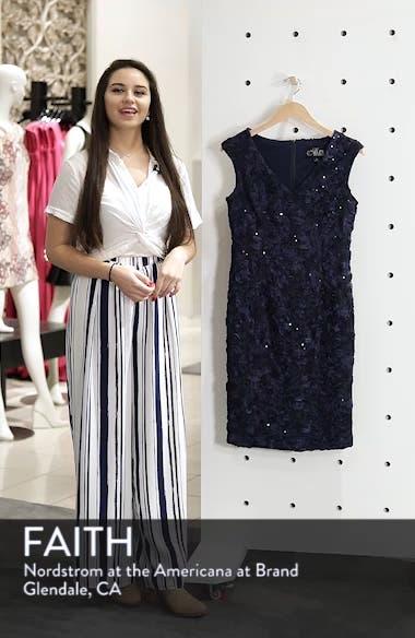 Alex Evening Rosette Sheath Dress, sales video thumbnail