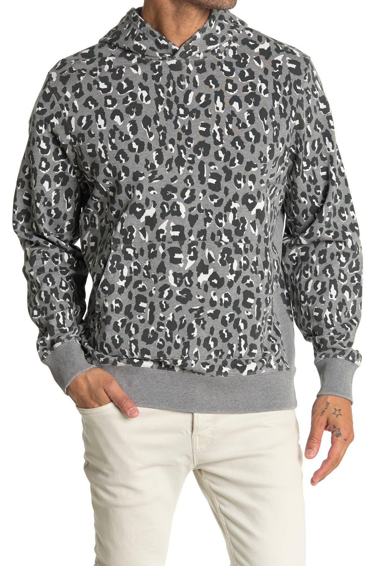 Image of OVADIA AND SONS Snow Leopard Pullover Hoodie