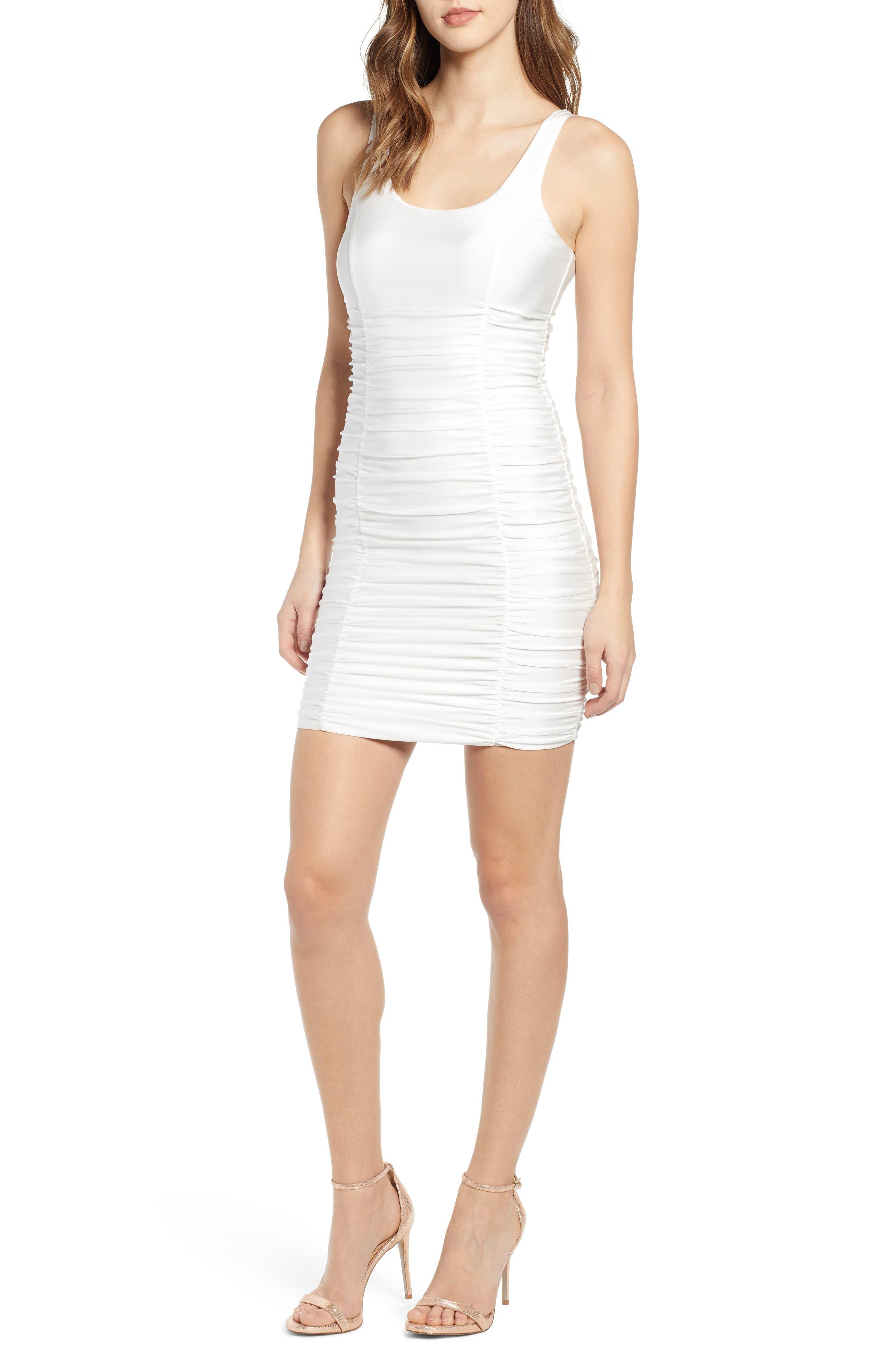 Tiger Mist Santa Clara Body-Con Dress, White