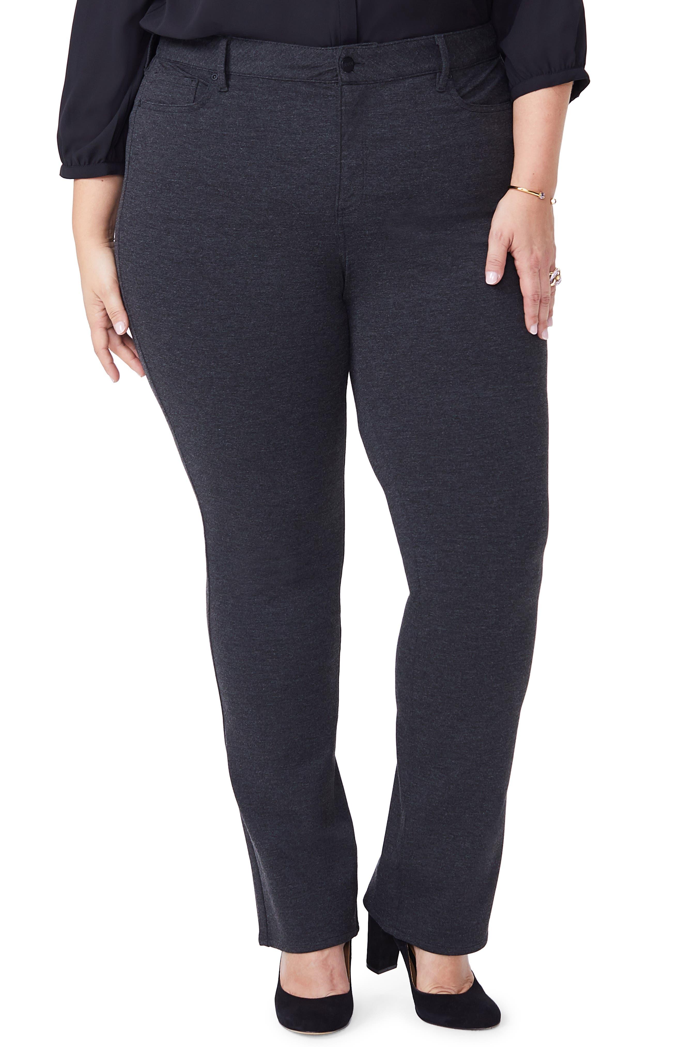 Plus Women's NYDJ Marilyn Straight Ponte Knit Pants
