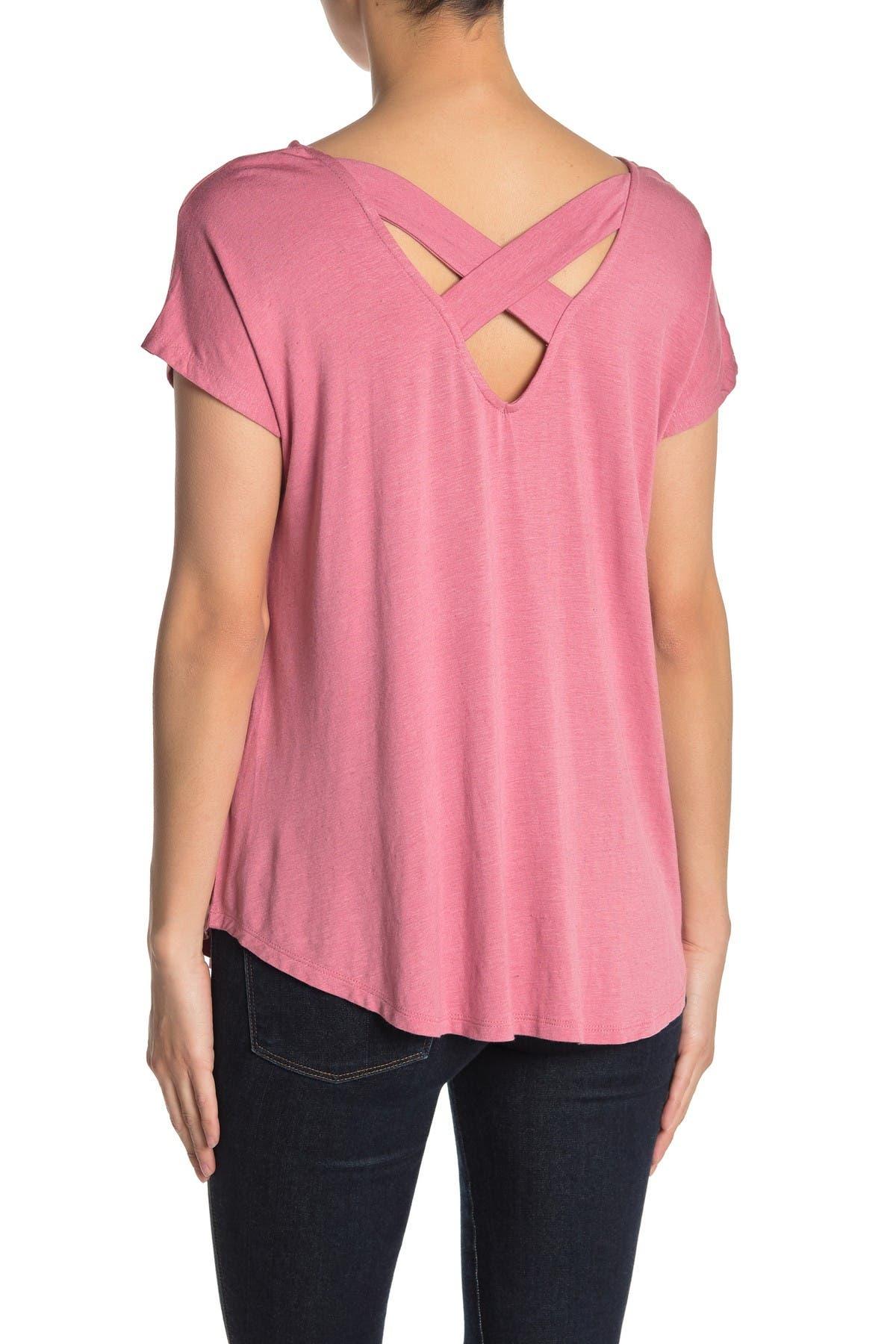Image of Bobeau Crisscross Back T-Shirt