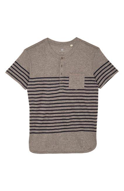 Image of AG Calix Stripe Henley T-Shirt