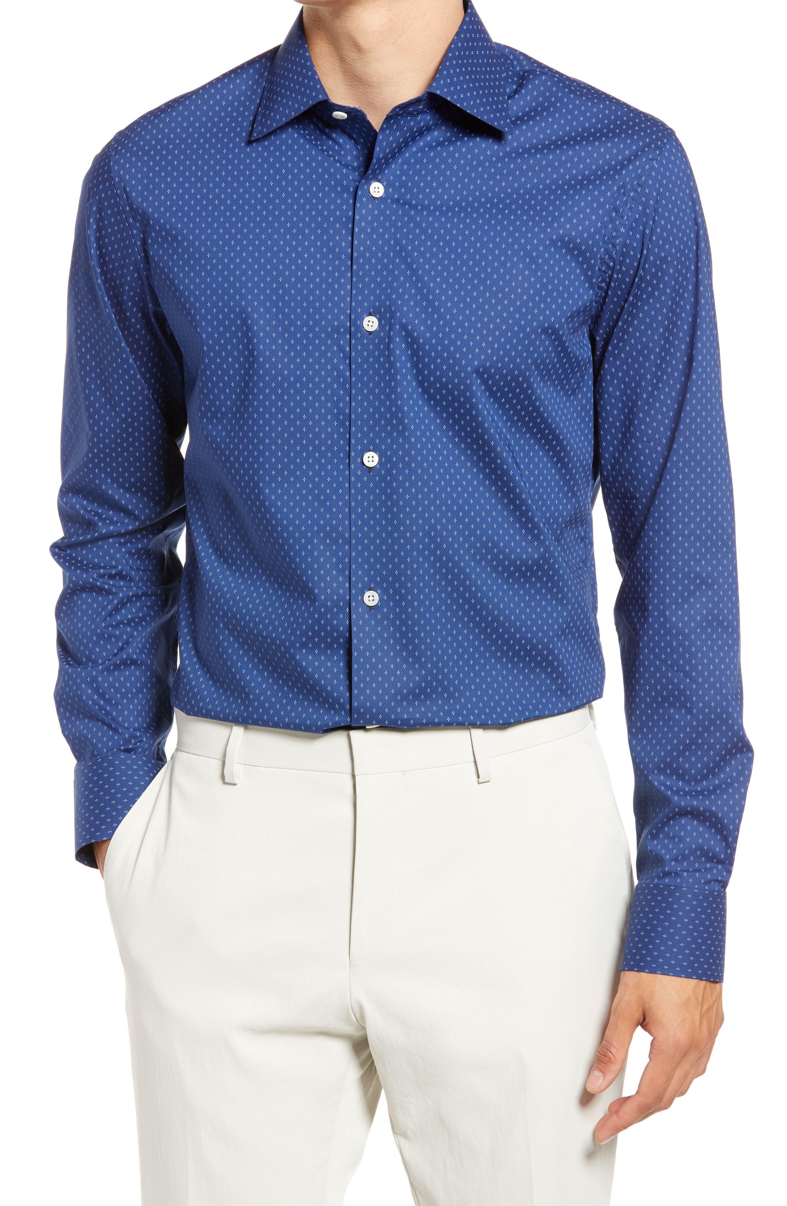 Trim Fit Stretch Dress Shirt