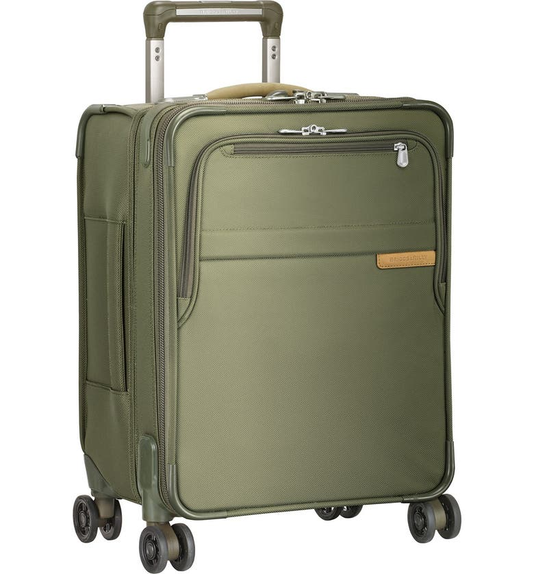 BRIGGS & RILEY 'Baseline - Commuter' Expandable Rolling Carry-On, Main, color, OLIVE