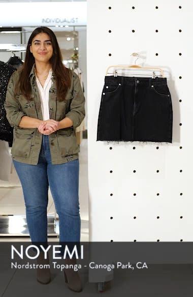 Frayed Hem Denim Miniskirt, sales video thumbnail