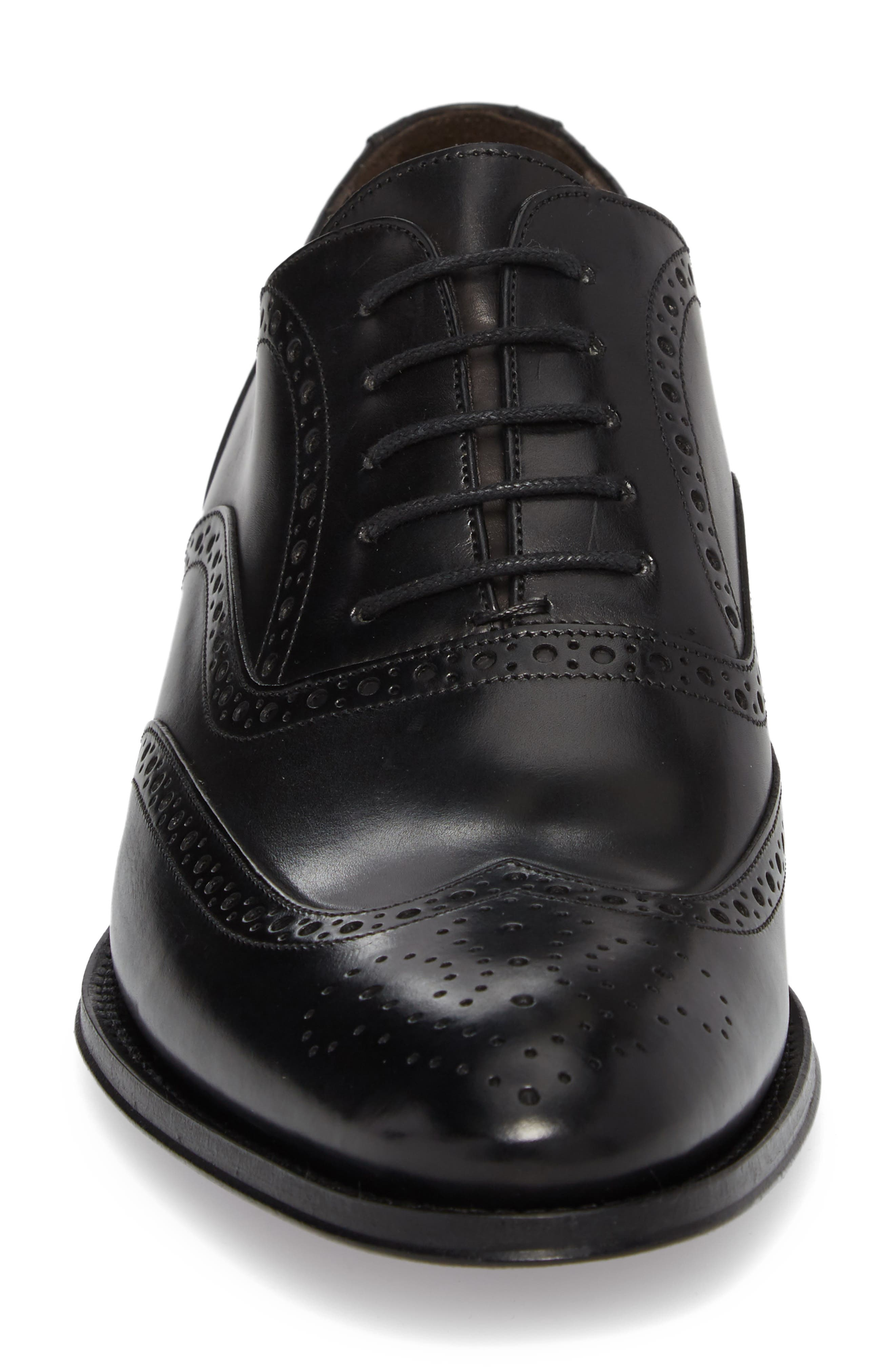 ,                             Milton Wingtip Oxford,                             Alternate thumbnail 4, color,                             BLACK LEATHER