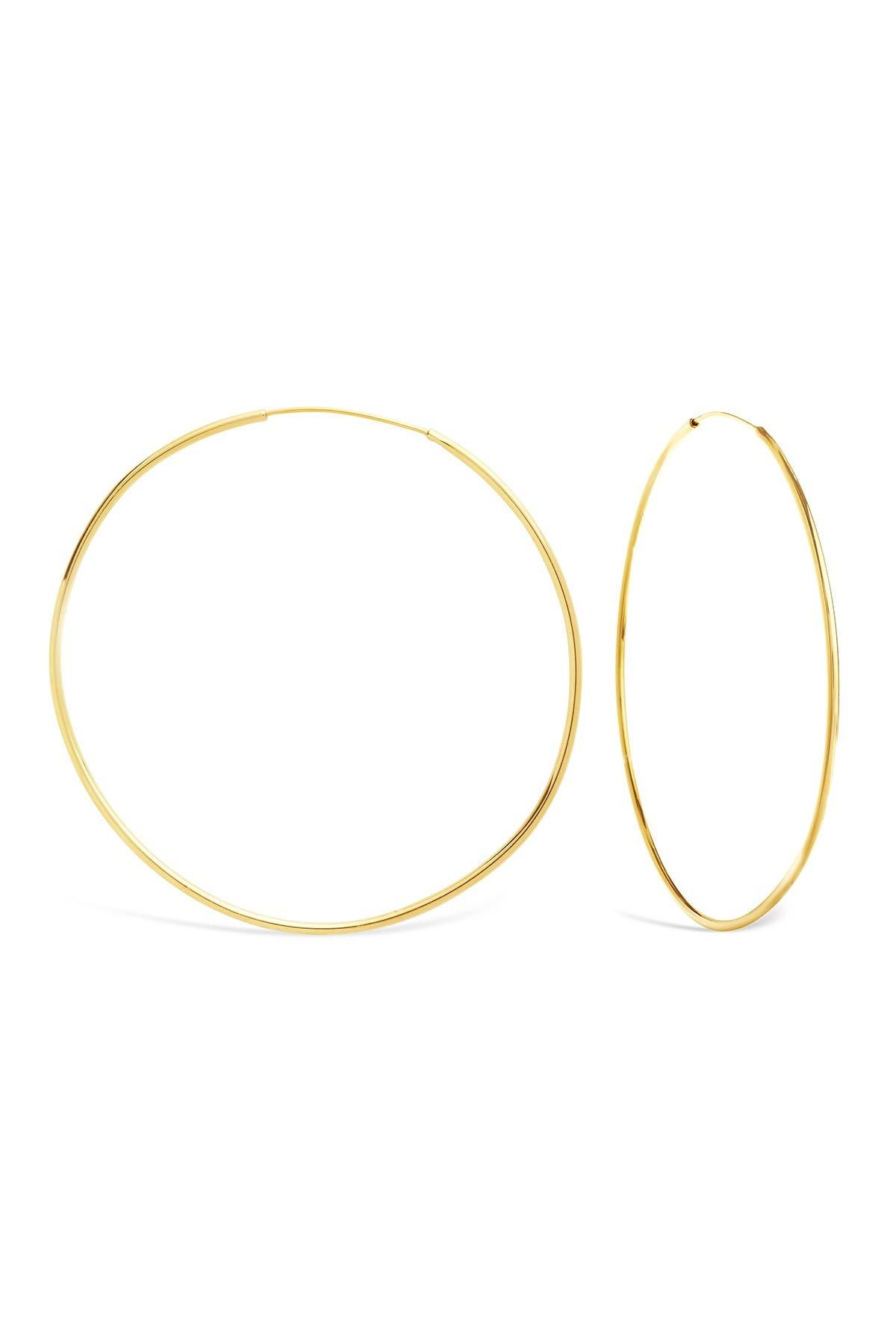 Image of Sterling Forever 68mm Shiny Finish Hoop Earrings