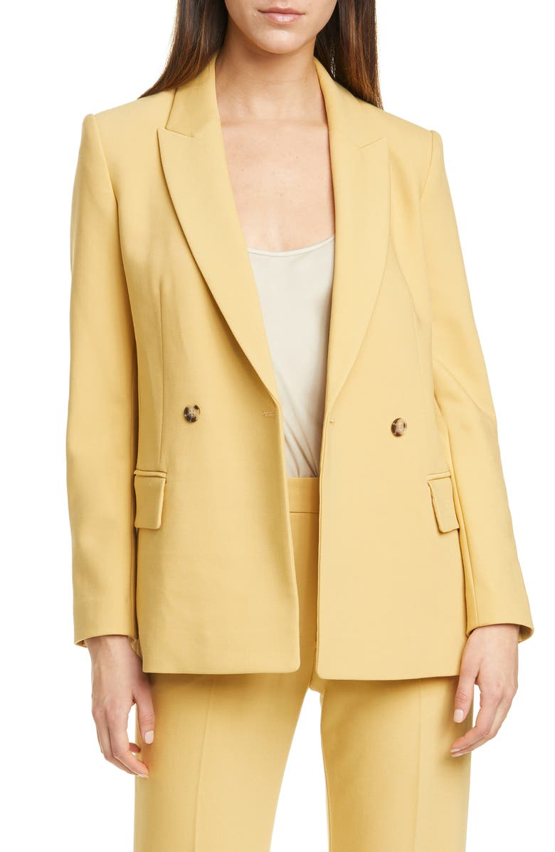 CLUB MONACO Double Breasted Blazer, Main, color, GINGER
