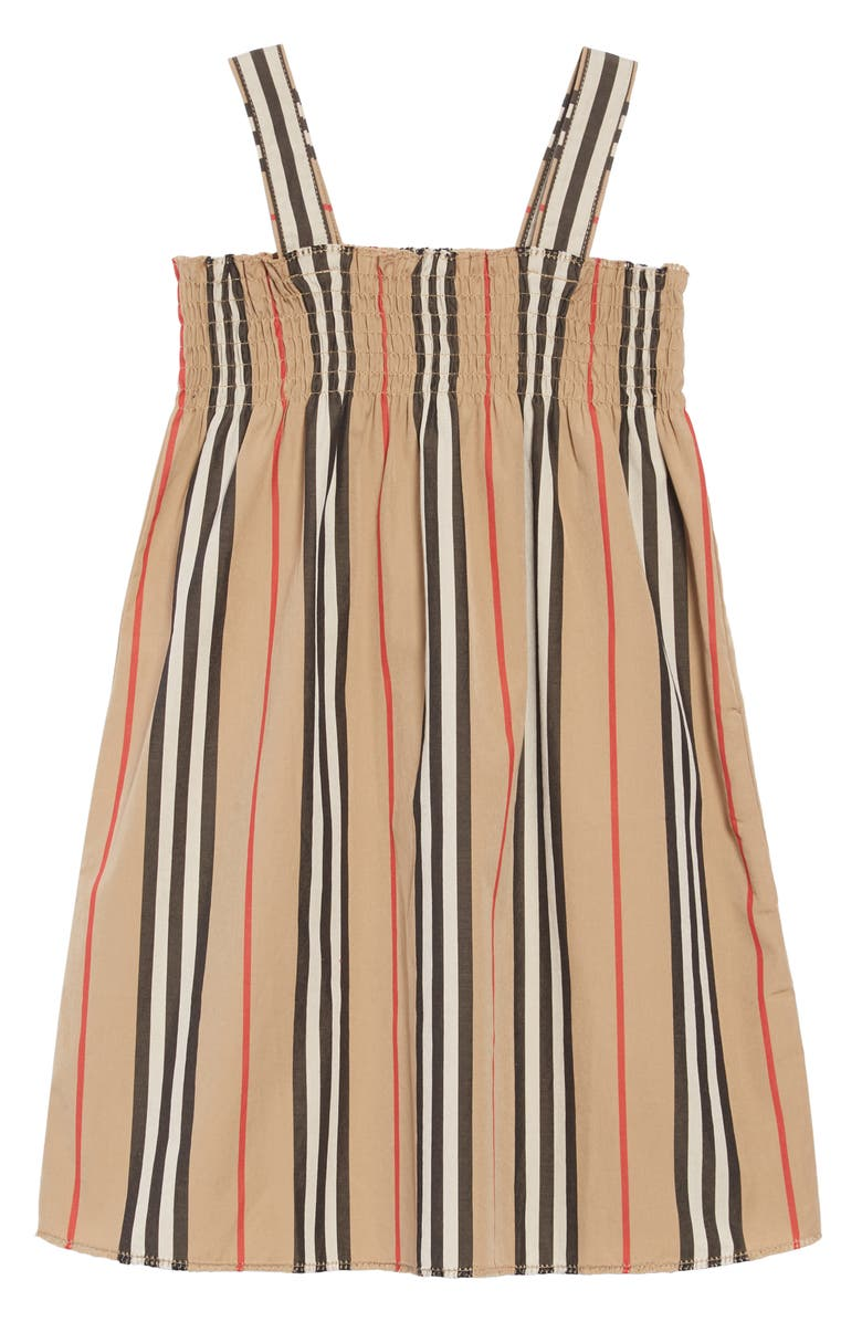 BURBERRY Junia Stripe Dress, Main, color, BEIGE