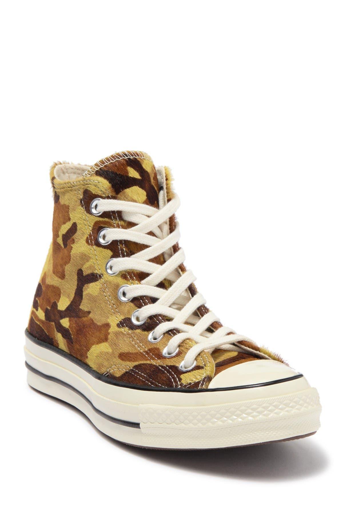 Image of Converse Chuck 70 Hi Top Camo Print Genuine Calf Hair Sneaker