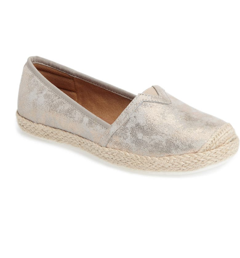 COMFORTIVA Sheridan Espadrille Flat, Main, color, IVORY SUEDE