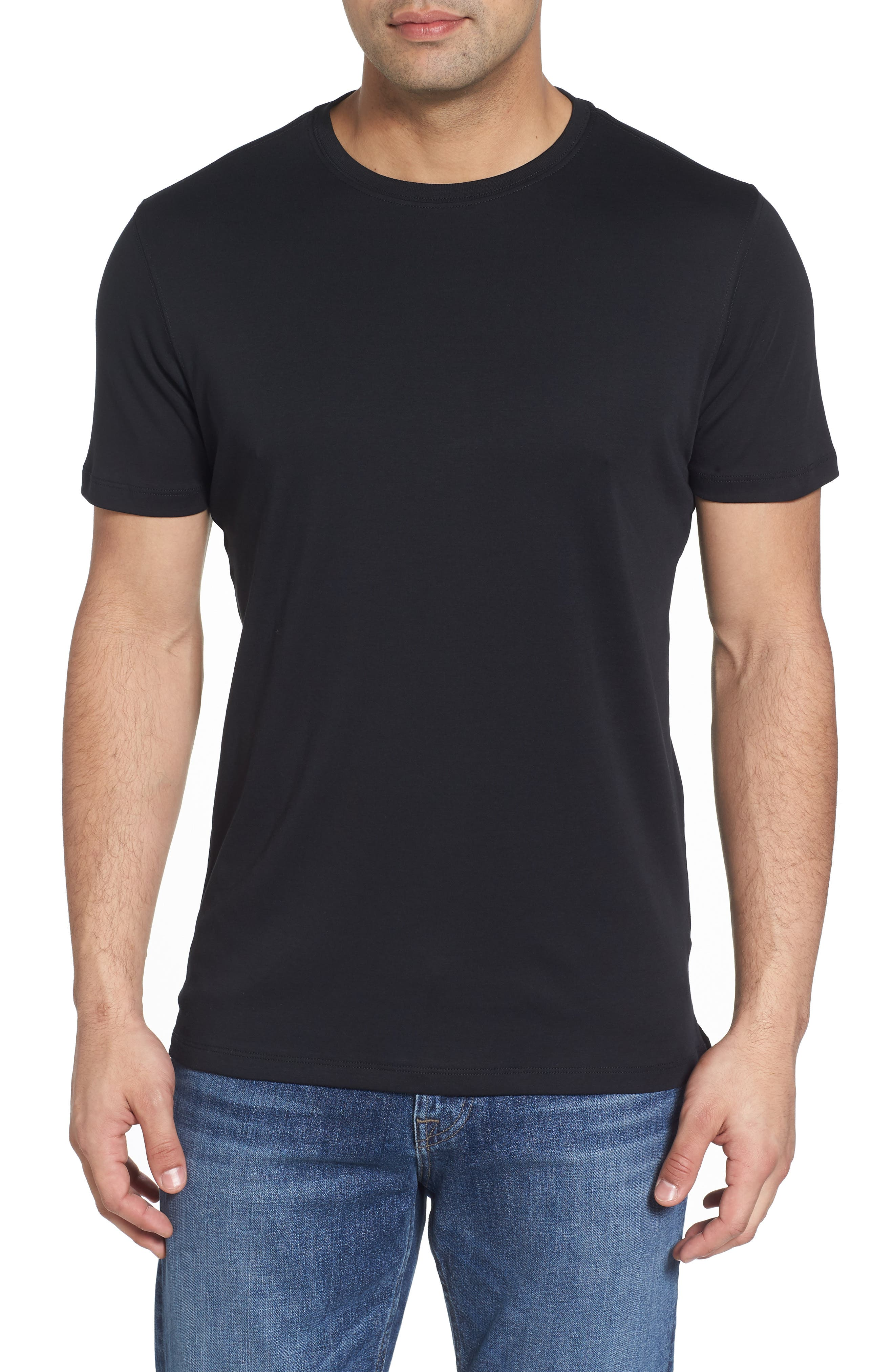 ,                             Georgia Crewneck T-Shirt,                             Main thumbnail 120, color,                             BLK